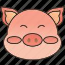 farm, livestock, pig, pork, zodiac icon