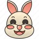 bunny, easter, furry, pet, rabbit icon