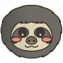 arboreal, mammal, sloth, slow, wildlife icon