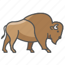 animal, bison, wild icon