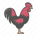 animal, farm, rooster icon