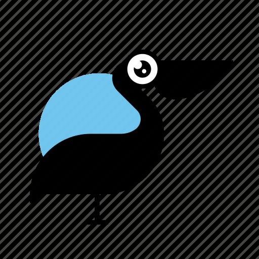 Animal, bird, pelican, wild icon - Download on Iconfinder