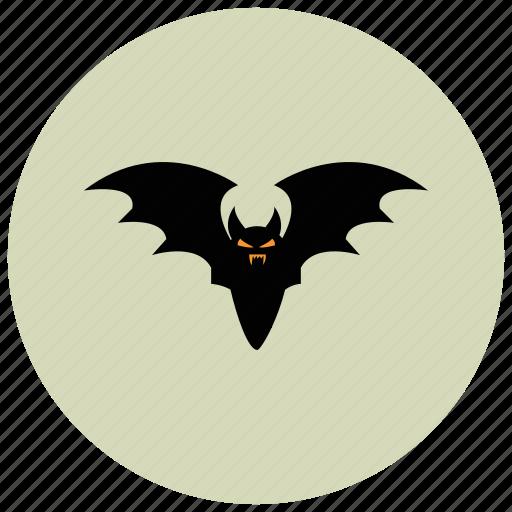animals, bat, fly, night, scary icon