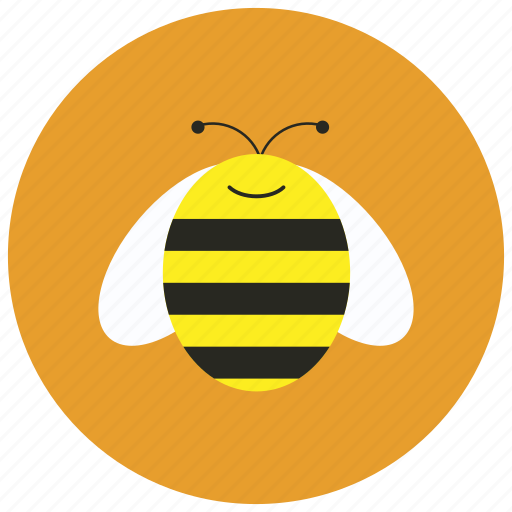 animals, bee, bug, hive, honey, stripes icon