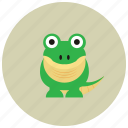 animals, crocodile, dinasour, river, tail icon