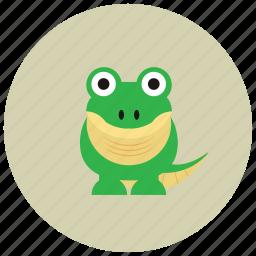 animals, crocodile, dinasour, river, tail icon
