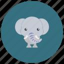 africa, animals, ears, elephant, trunk, tusks icon