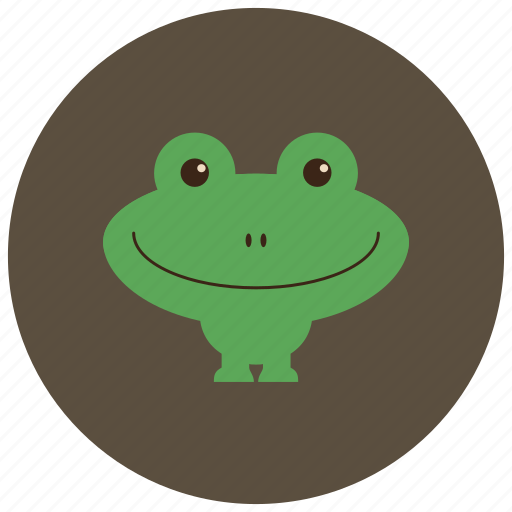 animals, cute, frog, happy, smile icon
