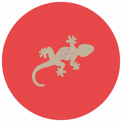 animals, fast, gekko, lizard, reptile, tail icon