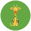 tall, giraffe, animals, africa, cute icon