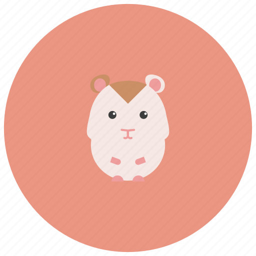 adorable, animals, cage, cute, hamster, pet icon
