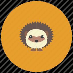 animals, cute, garden, hedgehog, spikes icon