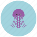 animals, jellyfish, ocean, posionous, sea icon