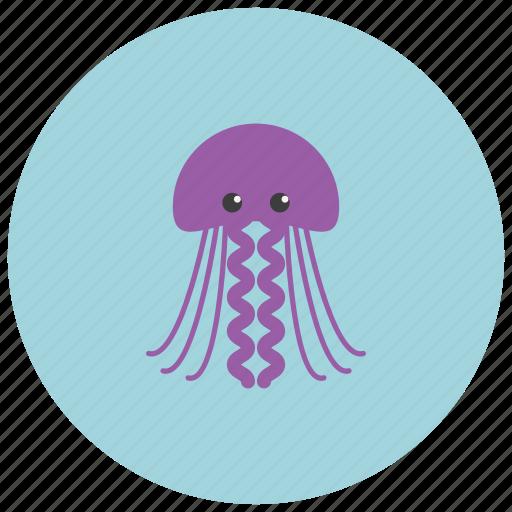 animals, jellyfish, ocean, posionous, sea icon