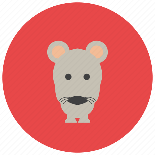 animals, cute, ears, mouse, whiskers icon
