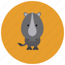 africa, rhino, animals, cute, horn icon