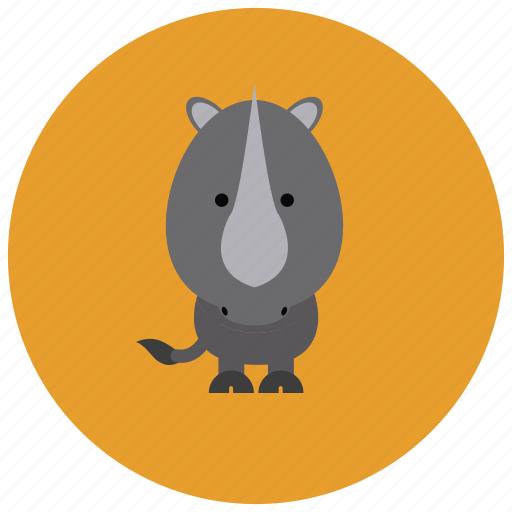 africa, animals, cute, horn, rhino icon