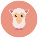 animals, cute, ears, herd, sheep icon