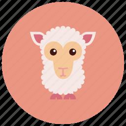 animals, cute, ears, herd, sheep icon