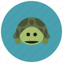 animals, cute, pet, shell, slow, turtle icon