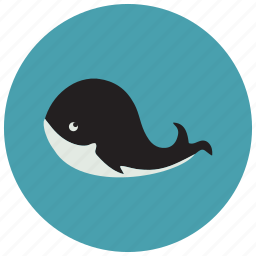 animals, cute, ocean, smile, whale icon