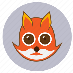 animals, big eyes, cute, ears, face, fox, mystic icon