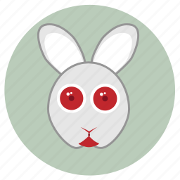 animals, big eyes, cute, face, pets, rabit icon