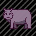 animals, hippo, wildlife, zoo icon