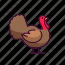 farming, turkey, animals, zoo, wildlife icon