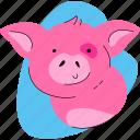 pig, animal, farm, livestock