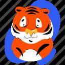 tiger, wild, animal, zoo