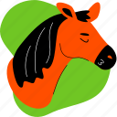 horse, animal, farm, head