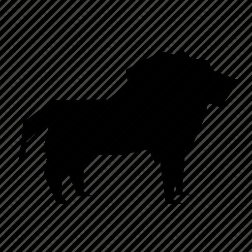 brave, lion, wild icon