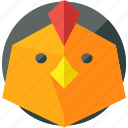 agriculture, animal, animals, chicken, farm, nature icon