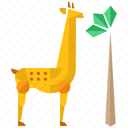 animal, animals, giraffe, nature, savannah icon