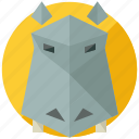 animal, animals, hippo, nature, savannah icon