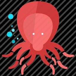 animal, nature, nautical, ocean, octopus, sea icon