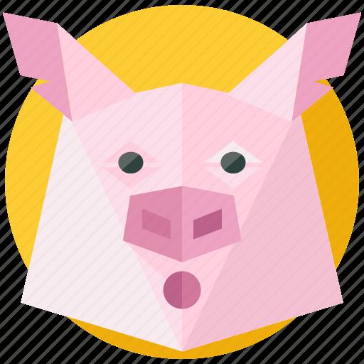 agriculture, animal, farm, farming, nature, pig icon
