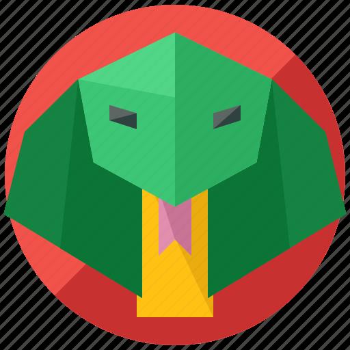 animal, cobra, nature, pet, reptile, snake icon