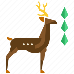 animal, deer, field, forest, nature, reindeer icon