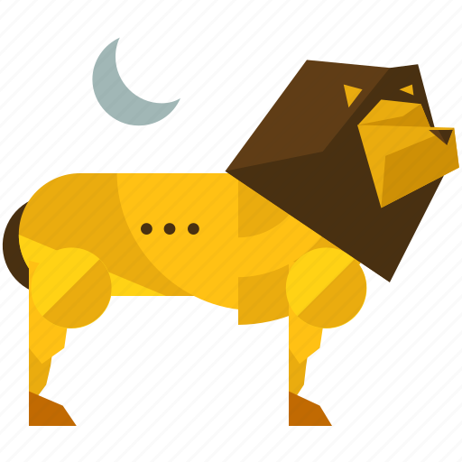 animal, jungle, king, lion, moon, nature, savannah icon