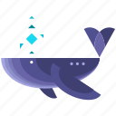 animal, animals, nautical, ocean, sea, whale icon