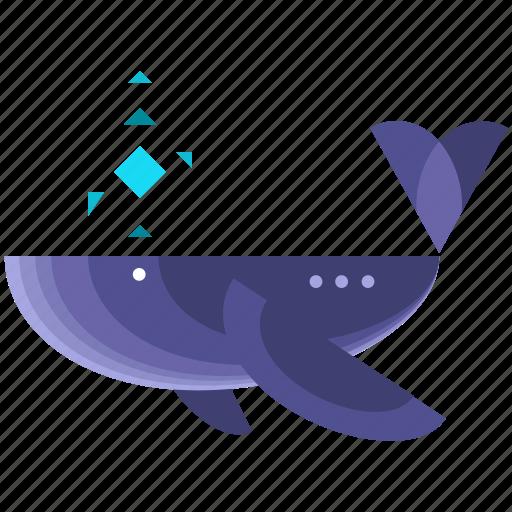 animal, animals, nautical, ocean, sea, whale icon