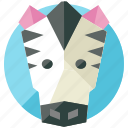 animal, desert, nature, savannah, zebra icon