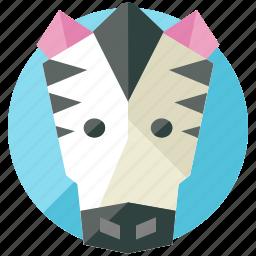 animal, desert, nature, savannah, zebra icon