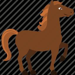 brown, domestic, horse, wild icon
