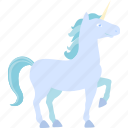 blue, horse, unicorn icon