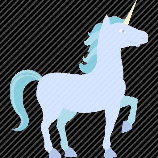 blue, horse, unicorn icon