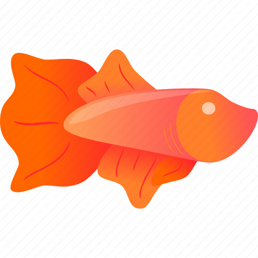 domestic, fish, orange, pink, wild icon