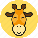 animal, cute, giraffe, logo, media, wild, zoo icon